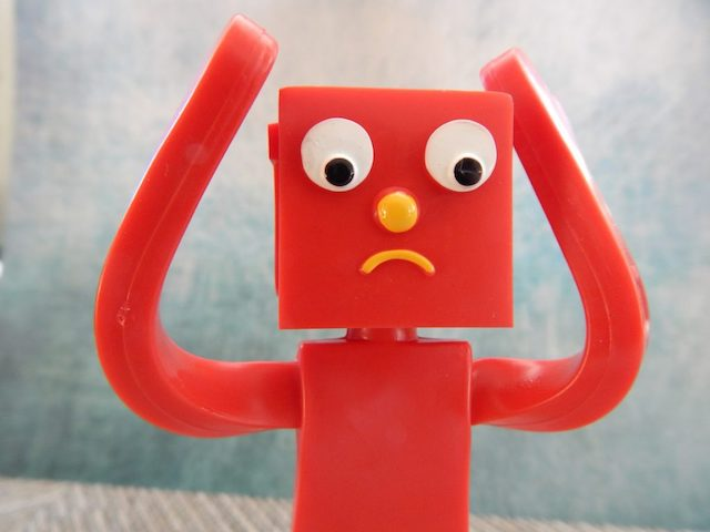 Worried Robot Toy
