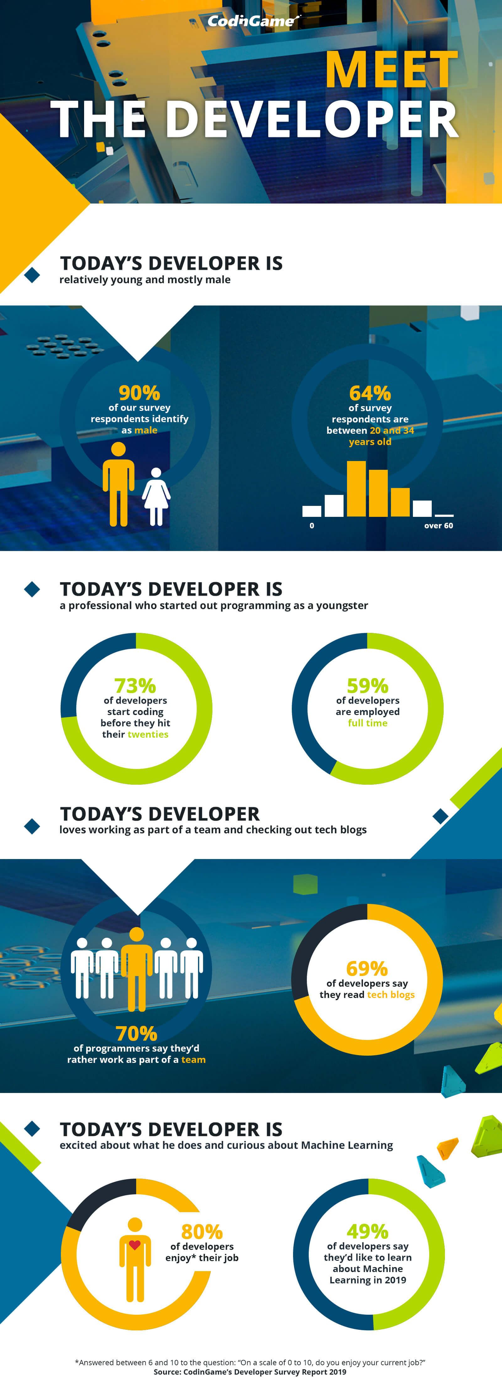 CodinGame Developer Survey Report Infographic